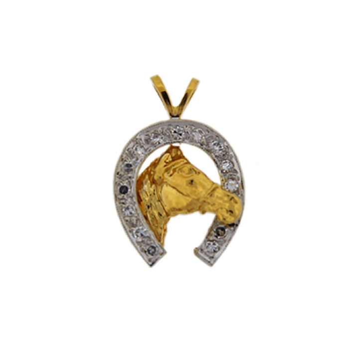 Diamond horseshoe pendant 31500 donegal jewelers antique diamond horseshoe pendant aloadofball Image collections